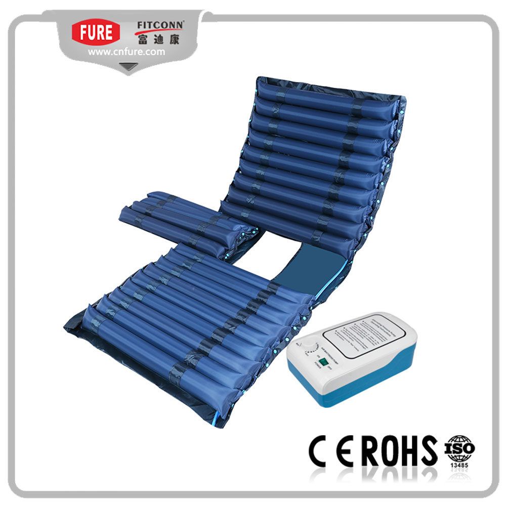 Tube air mattress with toilet hole